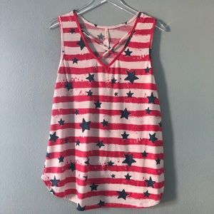 Boutique | red white and blue Americana tank